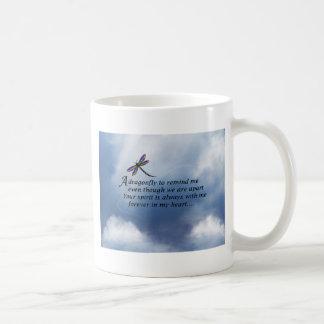 Dragonfly  Memorial Poem Basic White Mug