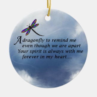 Dragonfly  Memorial Poem Christmas Ornament