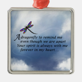 Dragonfly  Memorial Poem Christmas Ornament