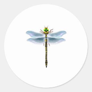 dragonfly merchandise round sticker