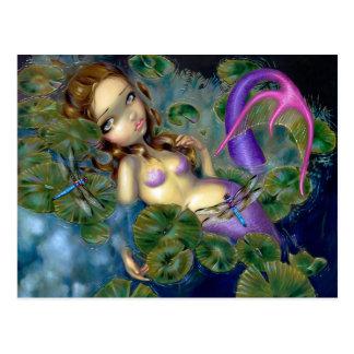 Dragonfly Mermaid Postcard