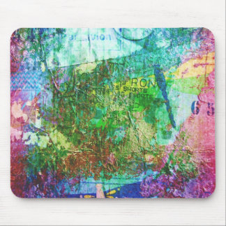 Dragonfly Mixed Media Collage Mouse Pad