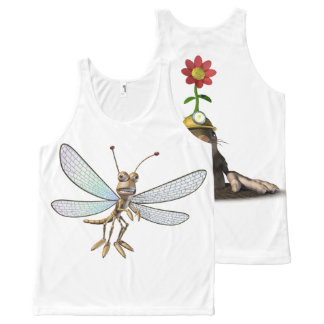 Dragonfly & Mole All-Over Print Tank Top