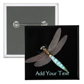 Dragonfly Monogram Business Button