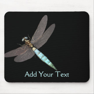 Dragonfly Monogram Business Mouse Pad