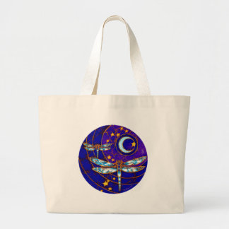 dragonfly moon large tote bag