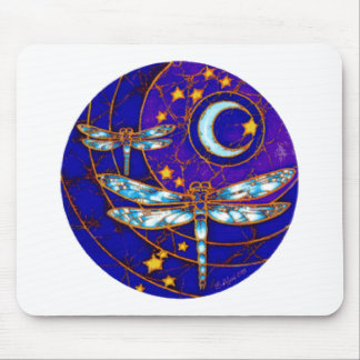 dragonfly moon mouse mat