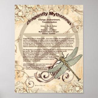 DRAGONFLY MYTHOLOGY POSTER