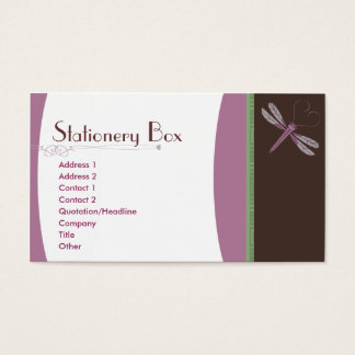 Dragonfly 'Neopolitan' Business Card