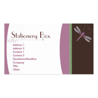Dragonfly 'Neopolitan' Pack Of Standard Business Cards