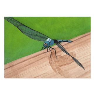Dragonfly on a Rail Artist Trading Card Large Business Cards (Pack Of 100)