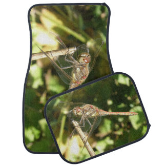 Dragonfly on a Twig Car Mat Set