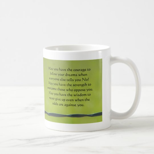 dragonfly on barbwire mug, May you have the
