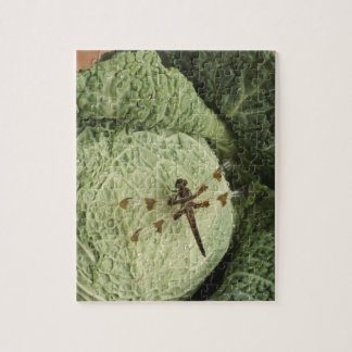 Dragonfly on lettuce jigsaw puzzle