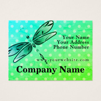 Dragonfly On Polka Dots Business Card