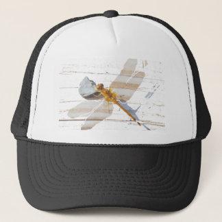 Dragonfly on Rock Trucker Hat