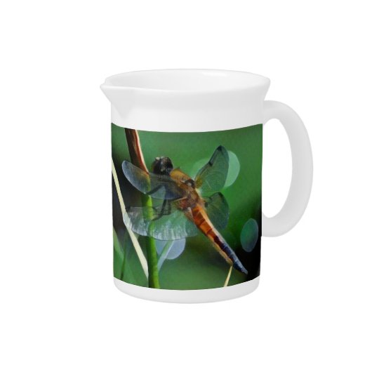 Dragonfly Painting Pitcher