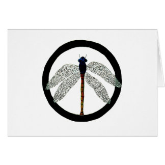 Dragonfly Peace Sign Card
