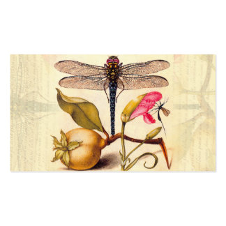 Dragonfly, Pear, Carnation, and Insect Business Card Template