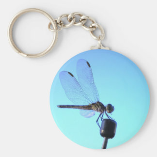 Dragonfly Perched Keychain