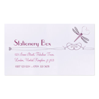 Dragonfly Personal Calling Cards Pack Of Standard Business Cards