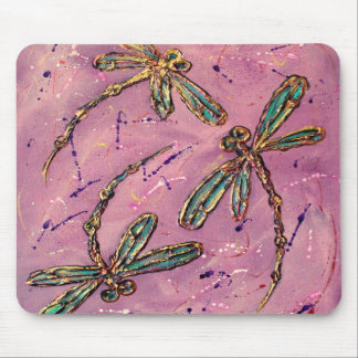 Dragonfly Pink Fizz Mouse Pad