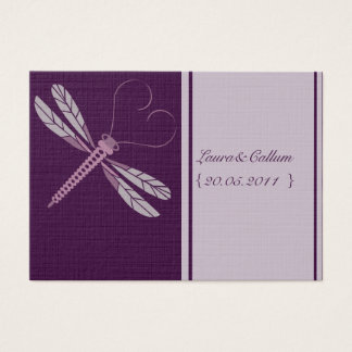 Dragonfly 'Plum' Place Cards