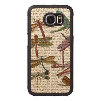 Dragonfly Print 4 Wood Phone Case