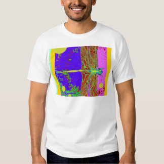 Dragonfly Purple Dreamscape  Fantasy by Sharles Shirts