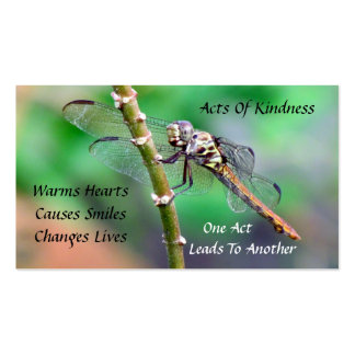 Dragonfly Random Acts of Kindness Card Business Card Templates