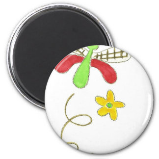 Dragonfly Red & Green 6 Cm Round Magnet