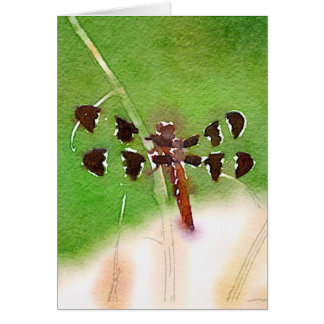 Dragonfly Resting on grass note card