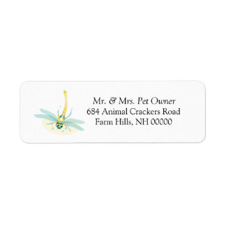 Dragonfly Return Address Labels Stickers