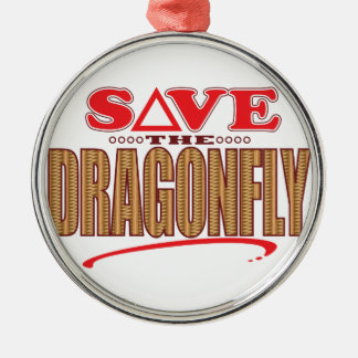 Dragonfly Save Christmas Ornament