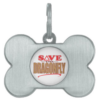 Dragonfly Save Pet ID Tag
