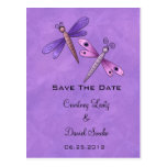 Dragonfly Save The Date Postcard