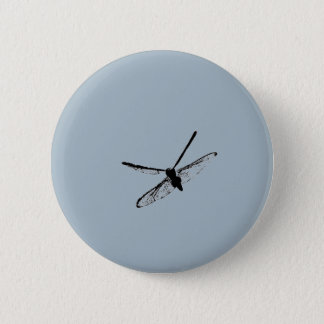 Dragonfly Silhouette Button 2