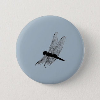 Dragonfly Silhouette Button 3