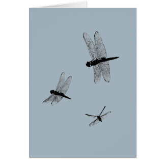 Dragonfly Silhouettes Blank Card