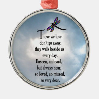 "Dragonfly ""So Loved"" Poem Christmas Ornament"