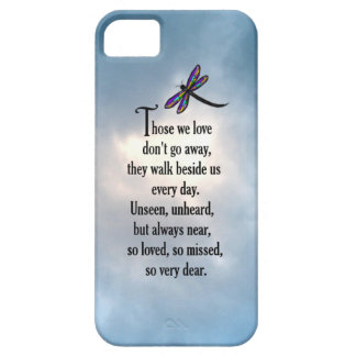"""Dragonfly """"So Loved"""" Poem iPhone 5 Cases"""