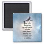 """Dragonfly """"So Loved"""" Poem Magnet"""