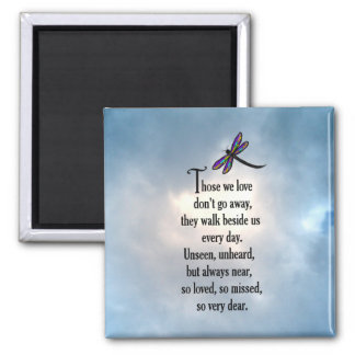 "Dragonfly ""So Loved"" Poem Magnet"