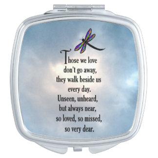 "Dragonfly ""So Loved"" Poem Makeup Mirror"
