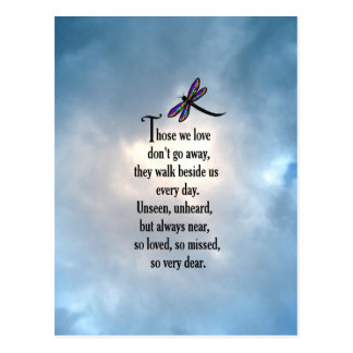 "Dragonfly ""So Loved"" Poem Postcard"