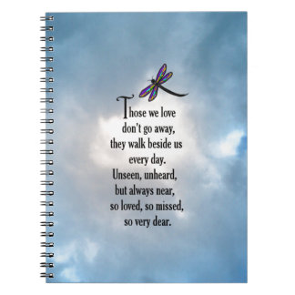 "Dragonfly ""So Loved"" Poem Spiral Notebook"