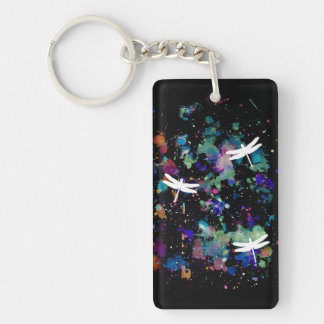 Dragonfly+Space Key Ring