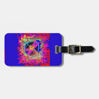 Dragonfly Splashing Colors by Sharles Luggage Tag