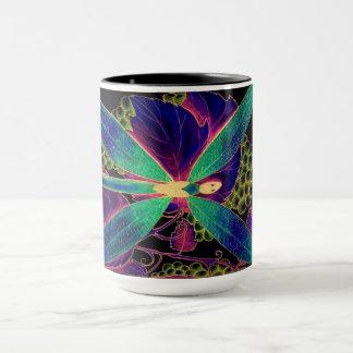 dragonfly style mug