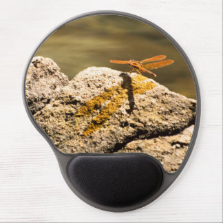 Dragonfly Sun Bathing Gel Mouse Pad
